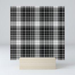 in mono plaid dark Mini Art Print
