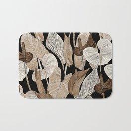 Lush lily - russet Bath Mat