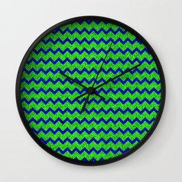Chevron Glitter Pattern 01 Wall Clock