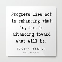 24   | Kahlil Gibran Quotes | 190701 Metal Print