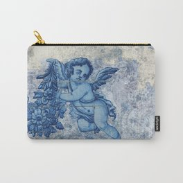 Antique Angel with flowers Carry-All Pouch
