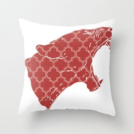 PANTHER SILHOUETTE HEAD WITH PATTERN Throw Pillow