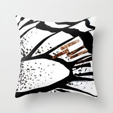 Glitter accent butterfly Throw Pillow