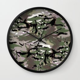 Camo Camo, and the art of disappearing. Wall Clock