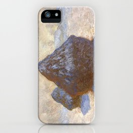1891-Claude Monet-Haystacks, Snow Effect-65 x 92 iPhone Case