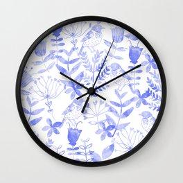 Abstract Botanical Garden III Wall Clock