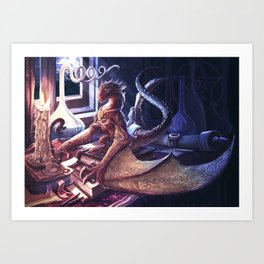 DragoMago Art Print
