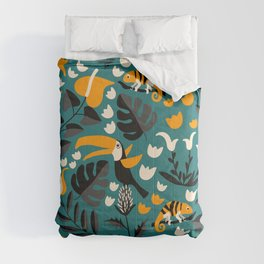 Tropical Toucan Pattern Comforters
