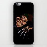 freddy krueger iPhone & iPod Skins featuring Freddy by iankingart
