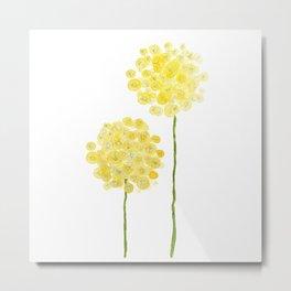 two abstract dandelions watercolor Metal Print