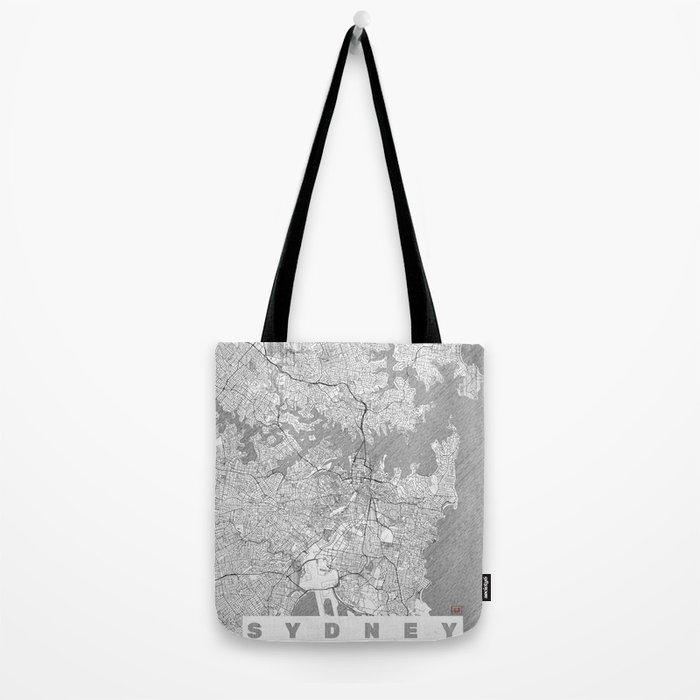 Sydney Map Line Tote Bag
