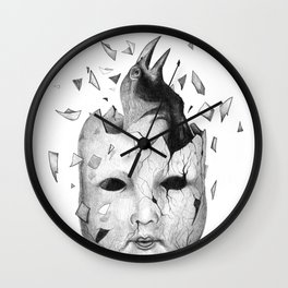i will take off my old skin  Wall Clock