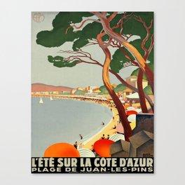 Vintage poster - Cote D'Azur, France Canvas Print