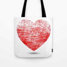 Grunge Heart Tote Bag