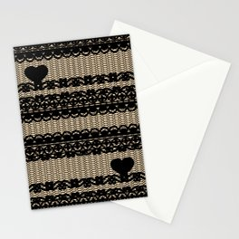 Lace My Heart 3  Stationery Cards