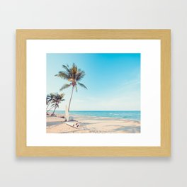 Surfboards on the Beach Framed Art Print