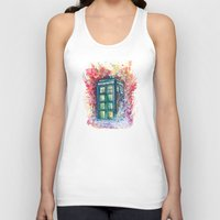 doctor Tank Tops featuring Doctor Who Tardis by Jessi Adrignola
