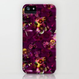 Moody florals iPhone Case