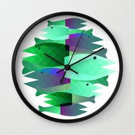 Fish party Wall Clock