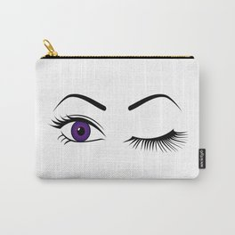 Violet Wink (Right Eye Open) Carry-All Pouch