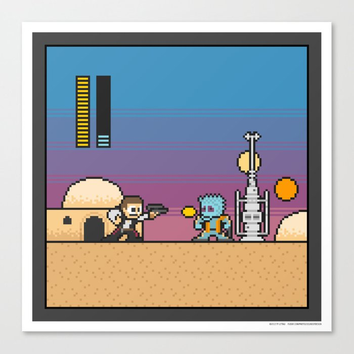 Mega Boss Battles - Han vs. Greedo Canvas Print
