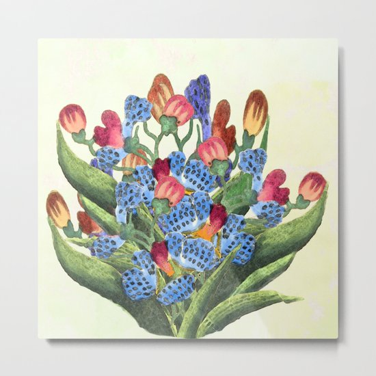 Mrs Dalloway bought the flowers  herself Metal Print
