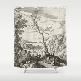Landscape With Judah And Tamar Willem van Nieulandt II Shower Curtain