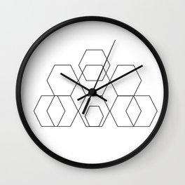 Half Hex Mood Wall Clock