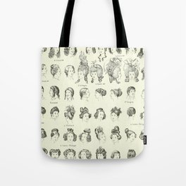 Historical Hair Tote Bag