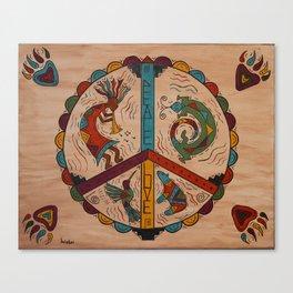 Southwest Peace Love and Harmony Canvas Print