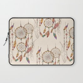 Bohemian dream catcher with beads and feathers Laptop Sleeve