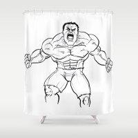 hulk Shower Curtains featuring Hulk by Carrillo Art Studio