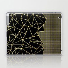 Abstract Outline Grid Gold Laptop & iPad Skin