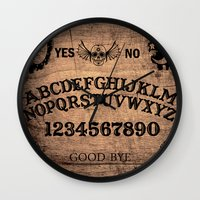 ouija Wall Clocks featuring Ouija Board by KickPunch