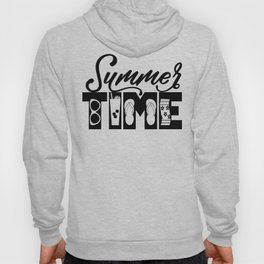 Summer TIME at the Pool Black Hoody