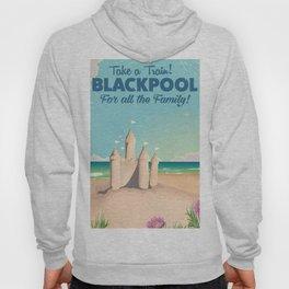 Blackpool,England vintage sandcastle train travel poster Hoody