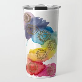 7 Chakras Watercolour Painting Travel Mug