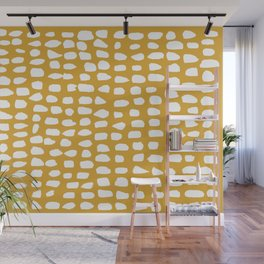 Dots / Mustard Wall Mural