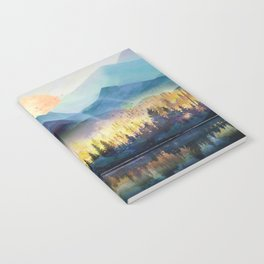 Mountain Lake Under Sunrise Notebook