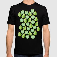 Apples and Pears MEDIUM Mens Fitted Tee Black