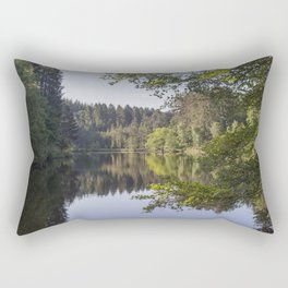 Morning reflections at Mallards Pike Rectangular Pillow