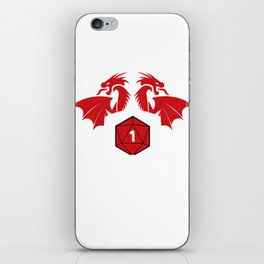 Tabletop Gaming DM Gift Print RPG D20 Dragons Well Shit iPhone Skin