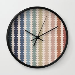 Maude Pattern- Vintage Multicolor Wall Clock