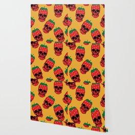 Skull Strawberries  Wallpaper