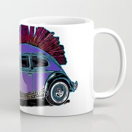 Punk Beetle Mohican Coffee Mug