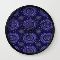 rave Wall Clocks featuring Rave by Katie Duker