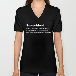 Snaccident Chips Chocolate Cookie Lover Snack Eater Gift Gift Unisex V-Neck