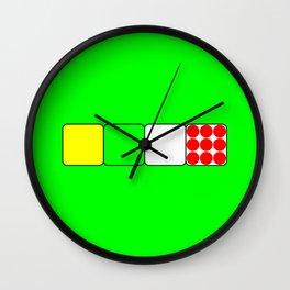 Tour de France Jerseys 2 Green Wall Clock