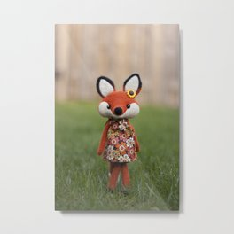 Madeline the fox - doll Metal Print