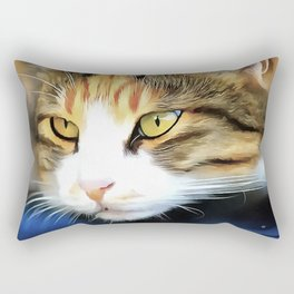 Contented Cat Rectangular Pillow